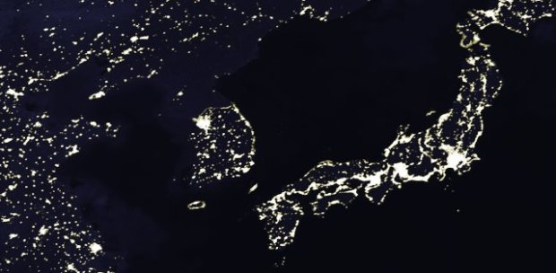 North Korea has no lights.